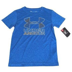 Under Armour Boys Heat Gear Size 6 XS Blue T Shirt